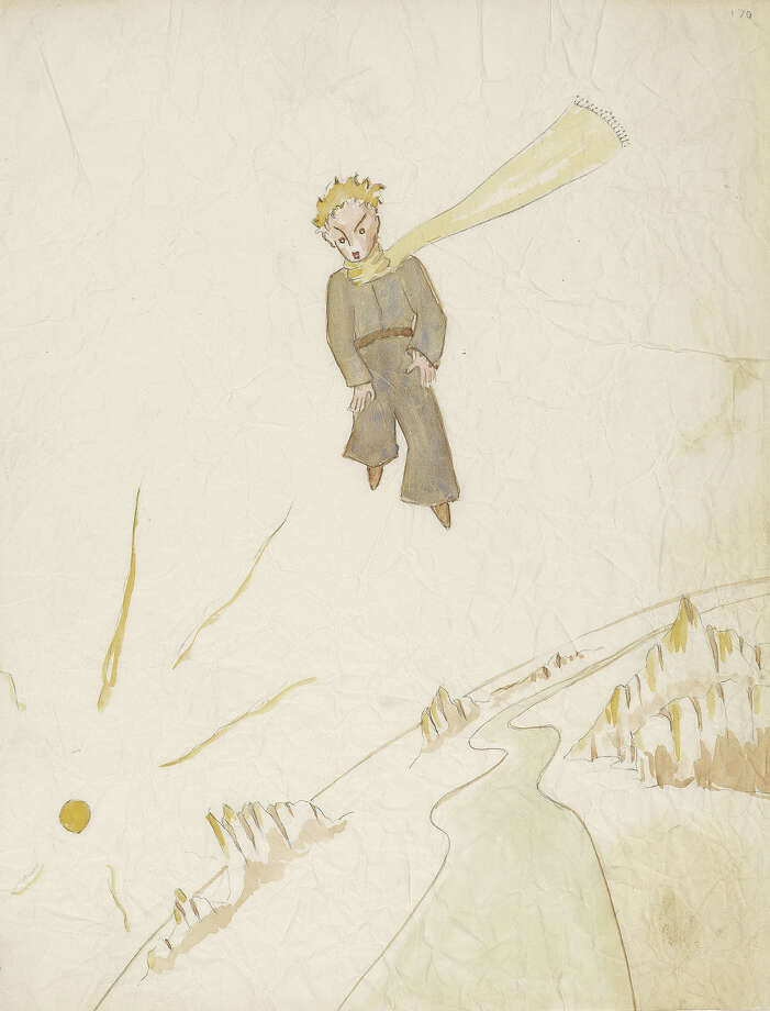 "This undated photo provided by the Morgan Library and Museum shows a drawing from Antoine de Saint-Exupery's beloved children's tale ""The Little Prince,"" which is the subject of a major exhibition at the Morgan Library and Museum in New York on the 70th anniversary of the book's publication. (AP Photo/Morgan Library and Museum, Graham S. Haber) ORG XMIT: NYR301 Photo: Graham S. Haber / Morgan Library and Museum"