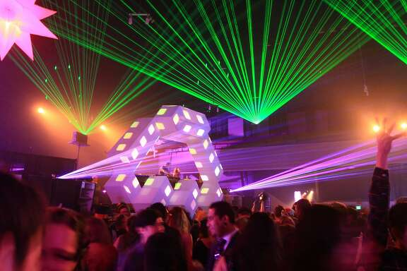 The New Bohemia New Year's Eve party at the Armory in San Francisco on Dec. 31, 2013, featured circus acts, burlesque dancers and The Crystal Method electronic music duo, among many other forms of entertainment. The party, from 9 pm to 4 am, drew 3,500 guests paying $60 to $200 a ticket. It was organized by Peter Acworth of Kink.com, Mike Gaines of the Vau de Vire Society, and Syd Ganis, a Burning Man event producer.