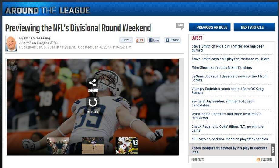 "NFL.com's Chris Wesseling  In his roundup of the league's divisional playoff games, NFL.com's Chris Wesseling noted that while the Saints finally got their first road playoff victory, winning in Seattle is much different than winning in Philadelphia. ""The Eagles have had one of the weakest home-field advantages in the NFL over the past two seasons,"" he wrote. ""The Seahawks boast the strongest. It's one thing for the Saints to push Philadelphia around in their own house. It's quite another to expect the same at a raucous CenturyLink Field against a Seattle team infamous for its sheer physicality."" Photo: Screenshot, NFL.com"