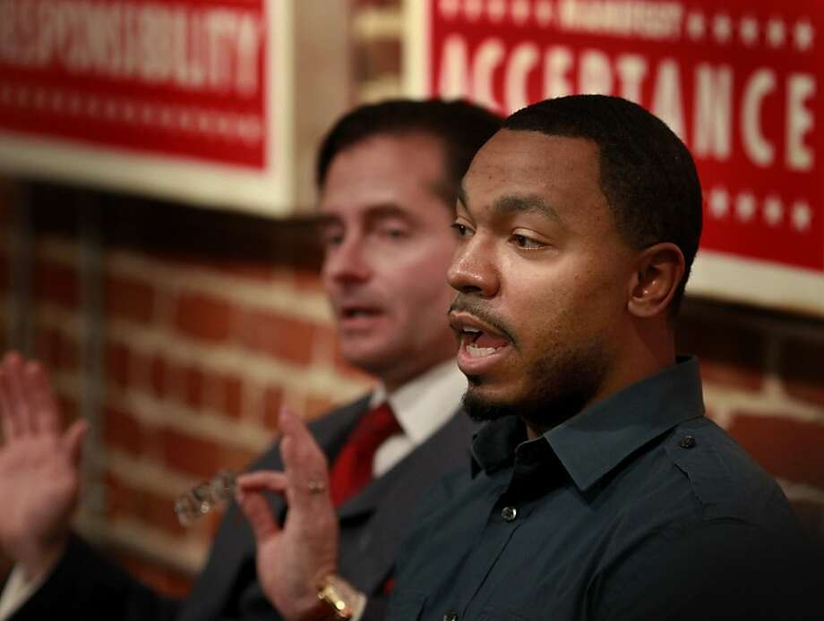 Omari Sealey (right), Jahi McMath's uncle, and attorney Christopher Dolan may have won a Pyrrhic victory. Photo: Brant Ward, The Chronicle