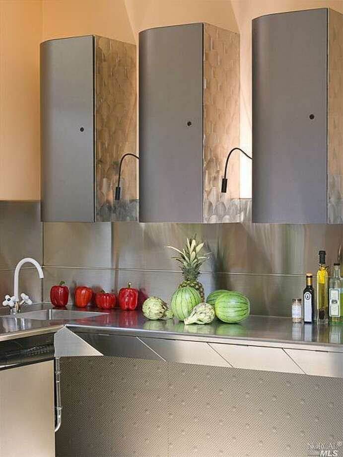 Kitchen with mod cabinetry.  Photos: MLS/Jean Pral, Pacific Union International