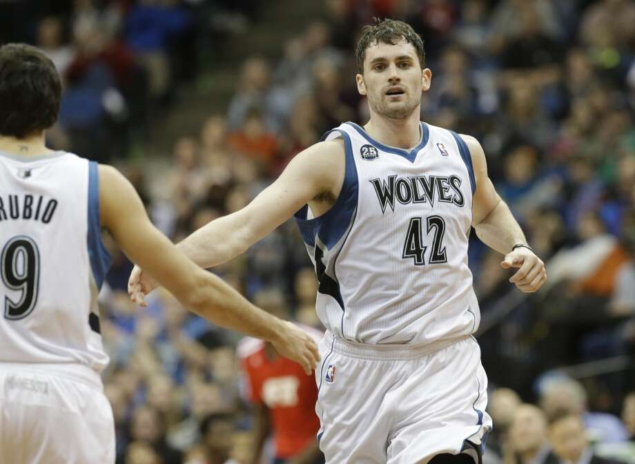15. Minnesota Timberwolves (17-17)  December ranking: 15  Preseason ranking: 12  Despite his missed free throws with the game on the line against Oklahoma City, Kevin Love is still playing at an MVP level, averaging 31.2 points on 51.7 percent shooting in his past 11 games. Photo: Jime Mone, Associated Press