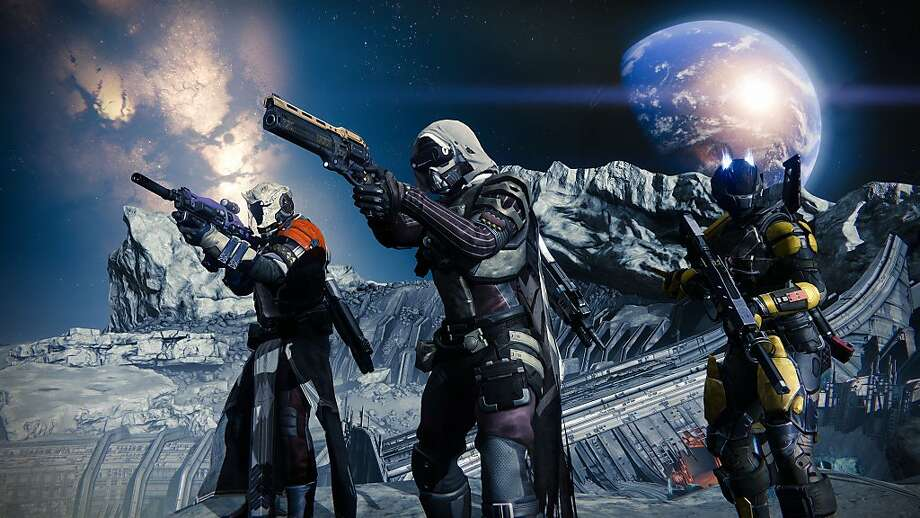 "Earth-based super soldiers fight aliens who have nearly destroyed society in the space-themed ""Destiny,"" due Sept. 9 from Bungie. Photo: Activision"