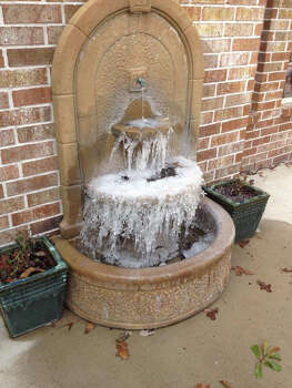 This is a little fountain we have on our back porch up in Huntsville. This was taken at noon Monday, Jan. 6, 2014. (Photo by Doug Dretke)
