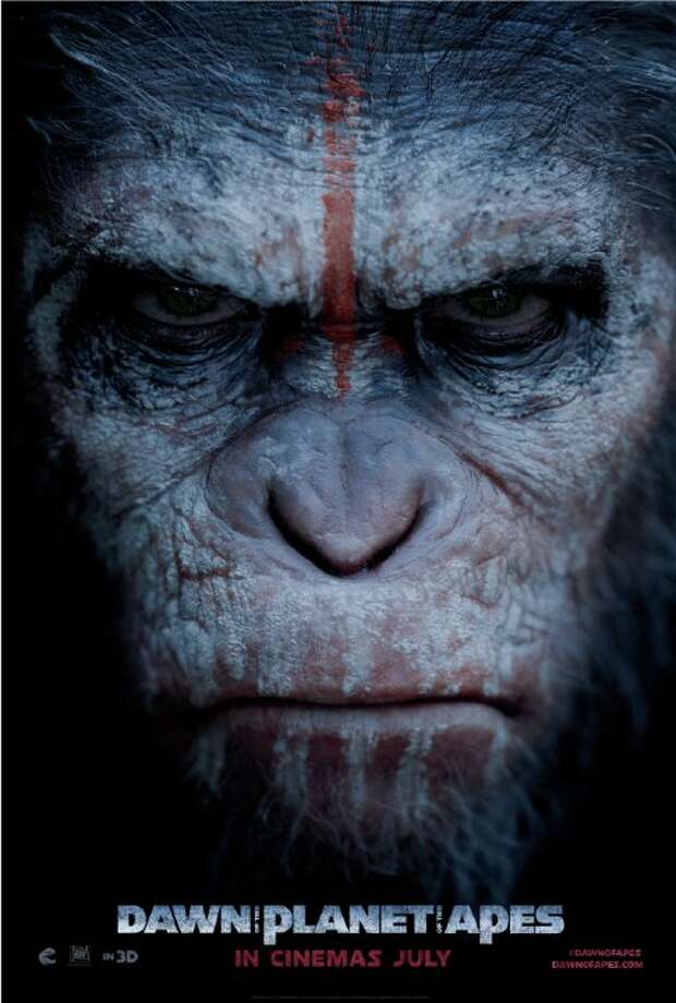 "The movie poster for """"Dawn of the Planet of the Apes,"" which will be released this July and is based in the Bay Area. Photo: Imdb.com"