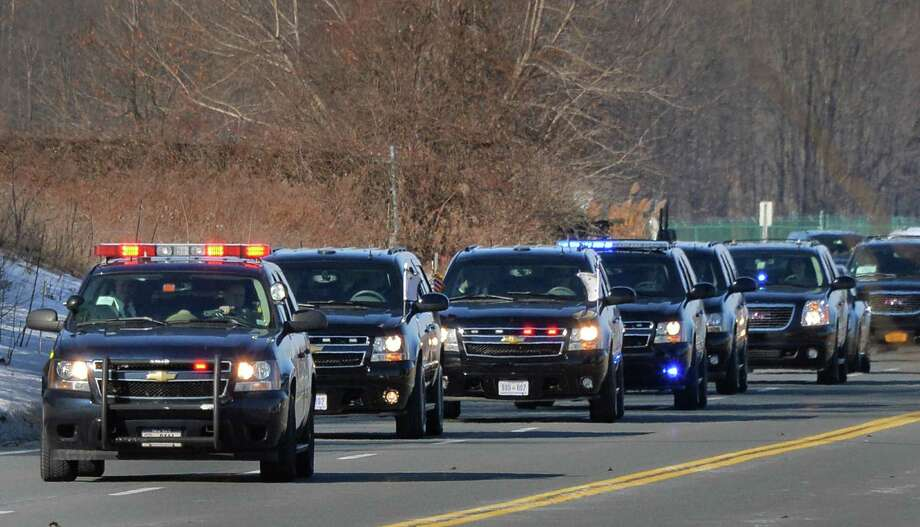 A motorcade brings Vice President Joe Biden to Albany to visit with Gov. Andrew Cuomo Tuesday Jan. 7, 2014, in Colonie, NY.  (John Carl D'Annibale / Times Union) Photo: John Carl D'Annibale / 00025269A