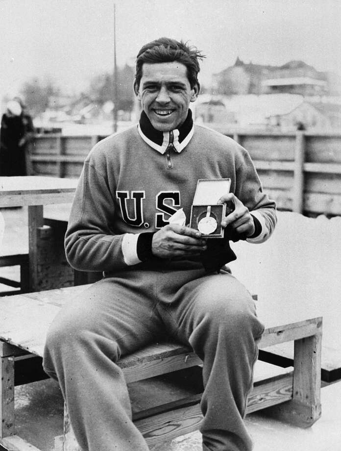 Jack Shea, who is shown with his gold medal during the 1932 Olympics in Lake Placid, N.Y.,  died early Tuesday, Jan. 22, 2002,  from injuries in a car accident in Lake Placid Monday, Jan. 21. Shea was  91. Photo: AP / LAKE PLACID WINTER OLY MUSEUM