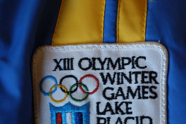 TIMES UNION STAFF PHOTO WILL WALDRON An official 1980 Lake Placid Olympics patch, Wednesday February 2, 2005. This year marks the 25th anniversary of the 1980 Winter Olympics in Lake Placid.