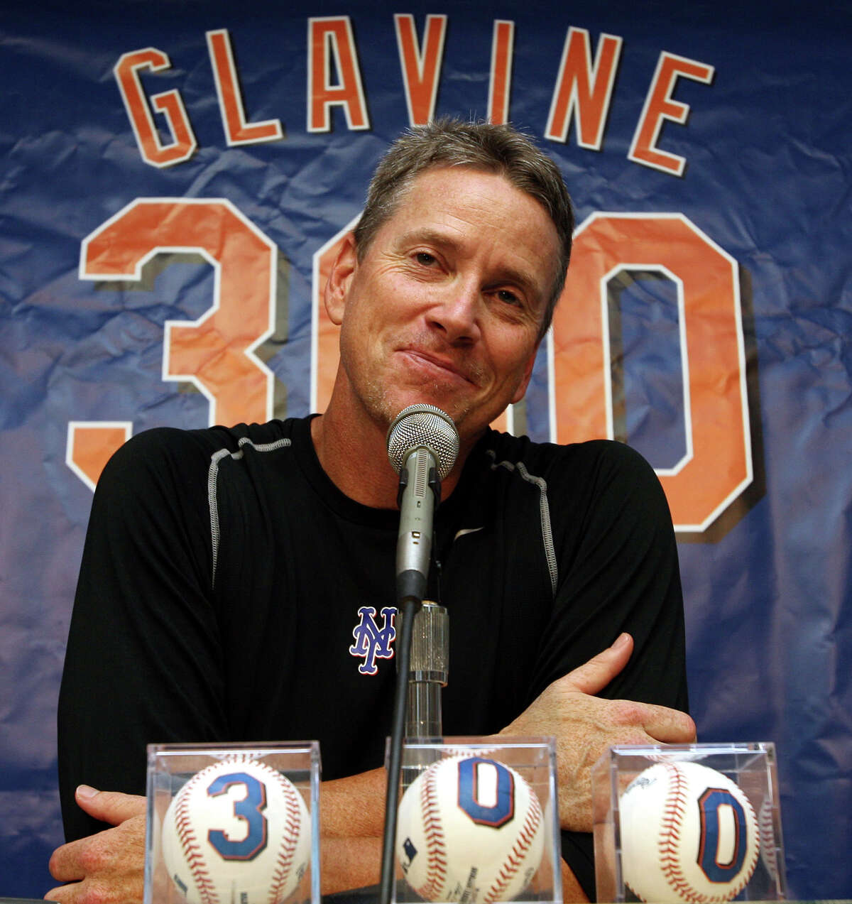 Tom Glavine won his 300th game as a member of the New York Mets on Aug. 5, 2007.