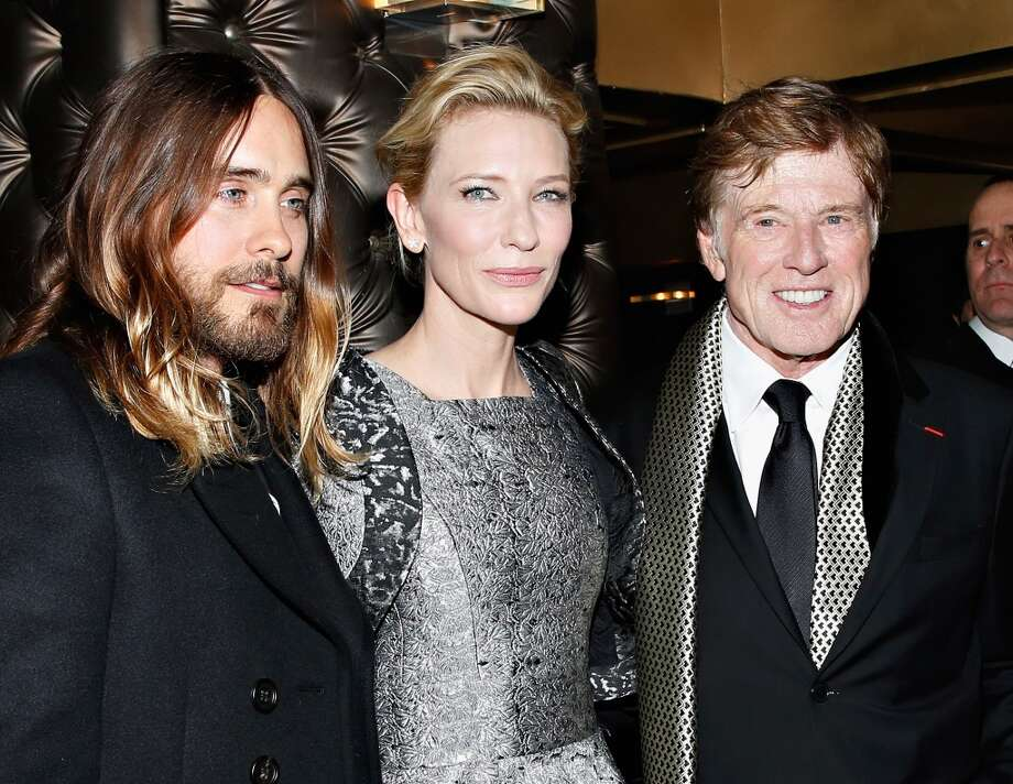 Actors Jared Leto, Cate Blanchett and Robert Redford attend the 2013 New York Film Critics Circle Awards Ceremony at The Edison Ballroom on January 6, 2014 in New York City. Photo: Cindy Ord, Getty Images