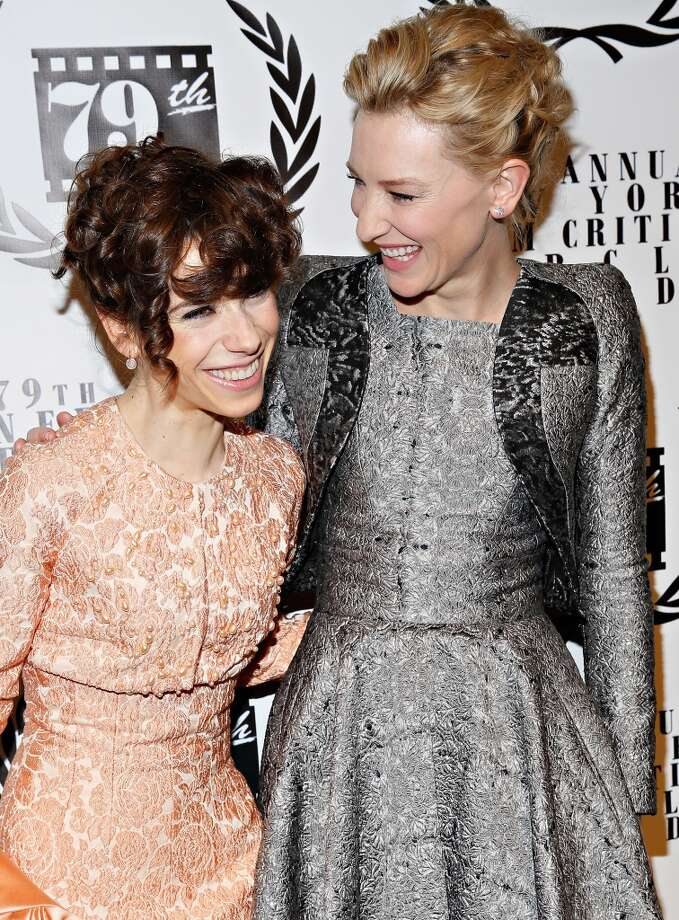 Actresses Sally Hawkins and Cate Blanchett attend the 2013 New York Film Critics Circle Awards Ceremony at The Edison Ballroom on January 6, 2014 in New York City. Photo: Cindy Ord, Getty Images