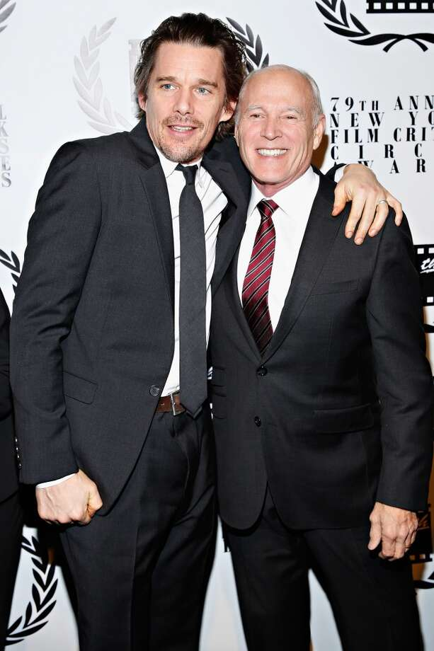 Actor Ethan Hawke and producer Frank Marshall attends the 2013 New York Film Critics Circle Awards Ceremony at The Edison Ballroom on January 6, 2014 in New York City. Photo: Cindy Ord, Getty Images