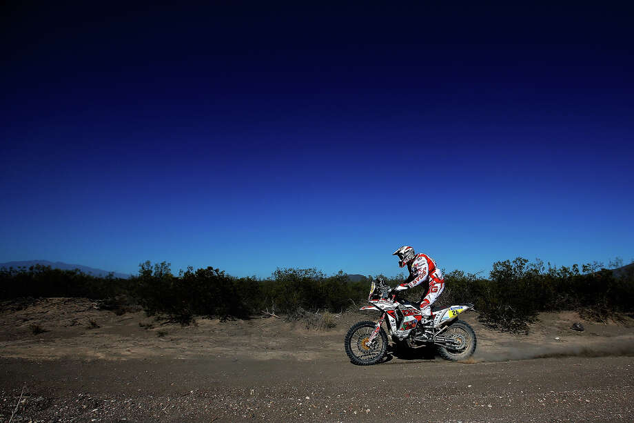 Gerard Farres Guell of Spain for Gas Gas Factory JVO Team competes on Day 2 of the Dakar Rally 2014 on January 6, 2014 near the Dunes of Nihuil, Argentina. Photo: Dean Mouhtaropoulos, Getty Images / 2014 Getty Images