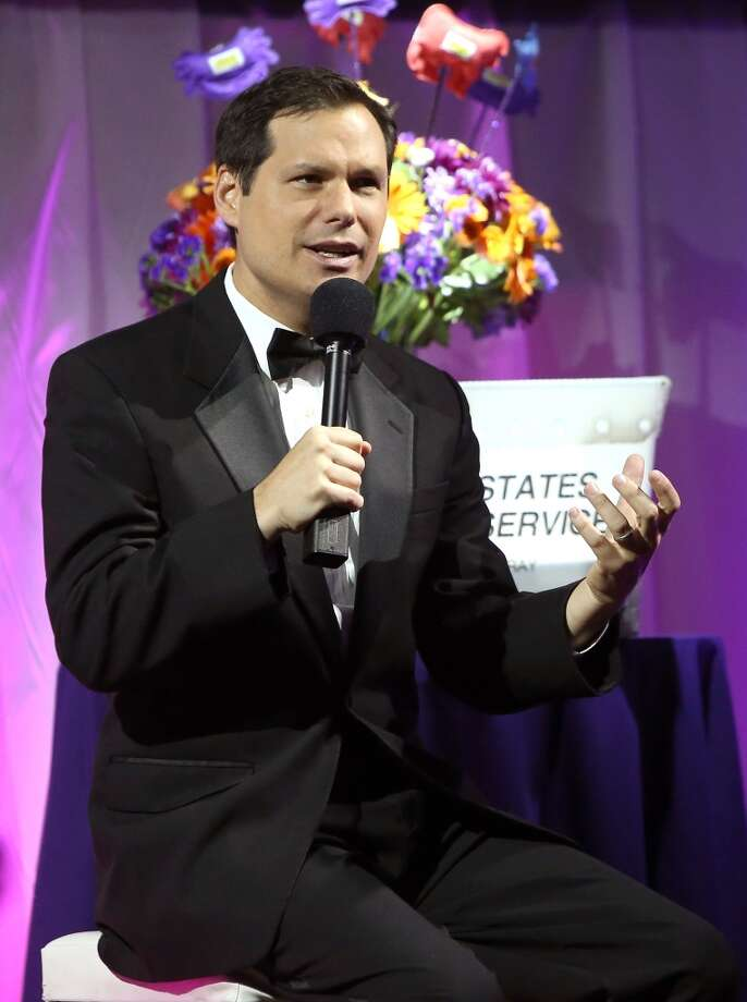 NEW YORK, NY - OCTOBER 15:  Host Michael Ian Black speaks during The Friskies 2013 at Arena NYC on October 15, 2013 in New York City.  (Photo by Mike Lawrie/Getty Images) Photo: Mike Lawrie, Getty Images