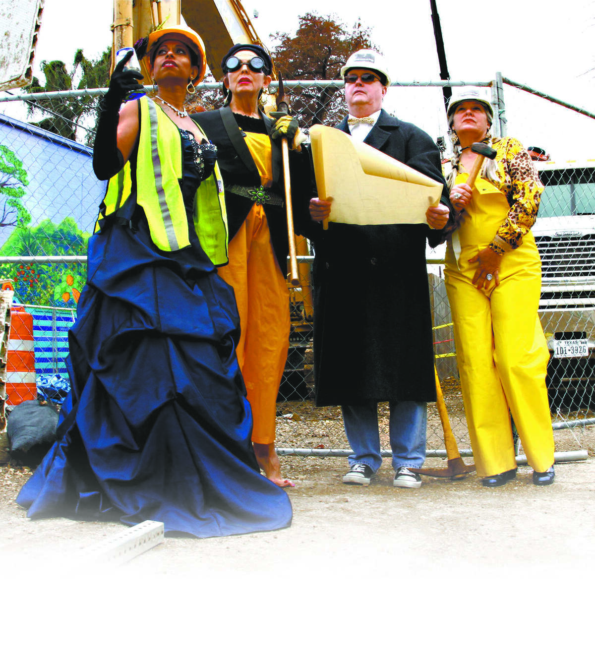 Jump-Start Performance Co. members S.T. Shimi (from left), Sandy Dunn, Chuck Squier and Kim Corbin will take part in