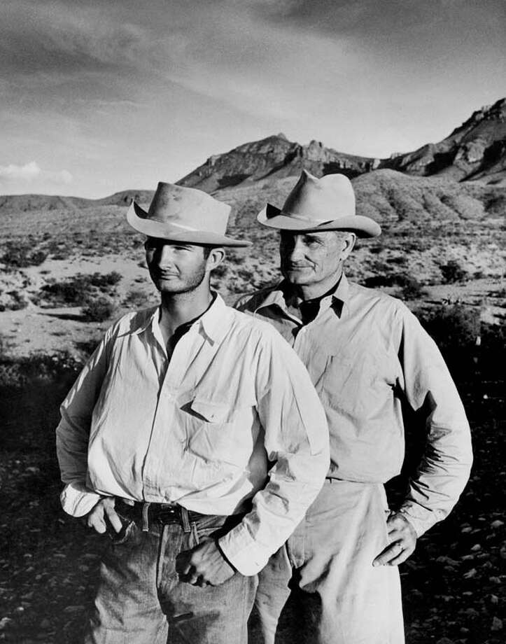 Ranchers W.T. Burnham, 59 and son Bill, 19, are pictured on their 35,000-acre ranch.  (Photo by Alfred Eisenstaedt/Pix Inc./Time Life Pictures/Getty Images) Photo: Alfred Eisenstaedt, Time & Life Pictures/Getty Image / Time Life Pictures