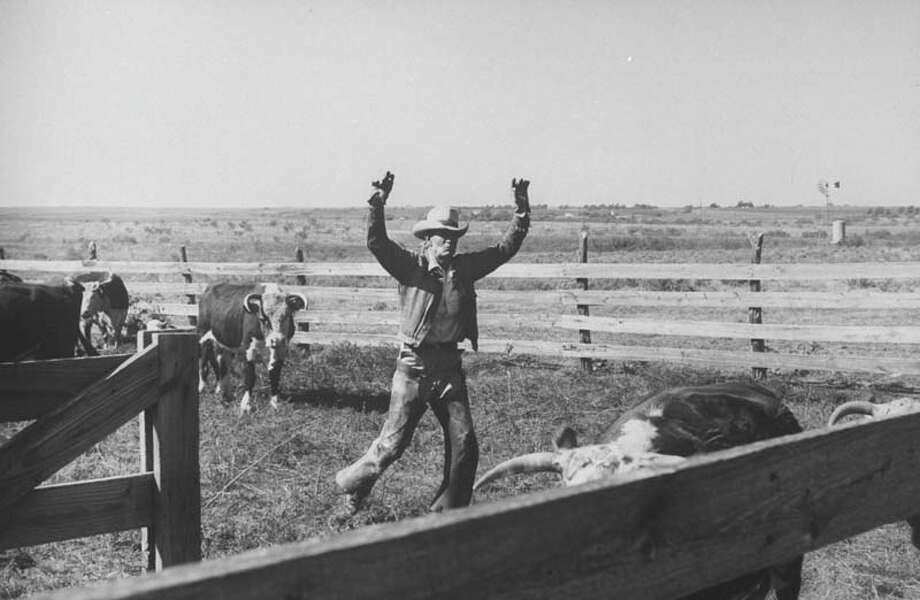 Clarence Hailey Long, a Texas cowboy, is pictured on his small ranch with cattle.  (Photo by Leonard Mccombe//Time Life Pictures/Getty Images) Photo: Leonard McCombe, Time & Life Pictures/Getty Image / Time Life Pictures