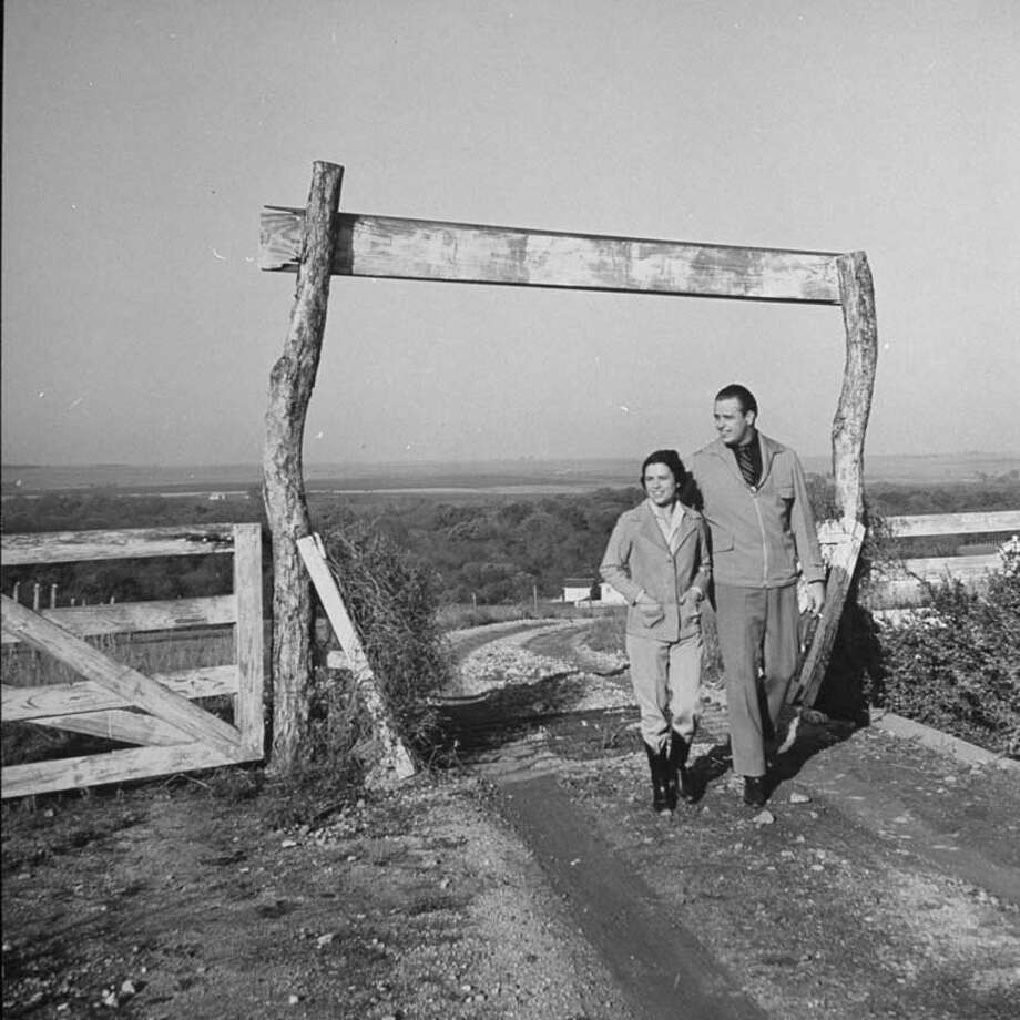 Elliott Roosevelt and his wife take a walk on their ranch.  (Photo by Bernard Hoffman//Time Life Pictures/Getty Images) Photo: Bernard Hoffman, Time & Life Pictures/Getty Image / Time Life Pictures