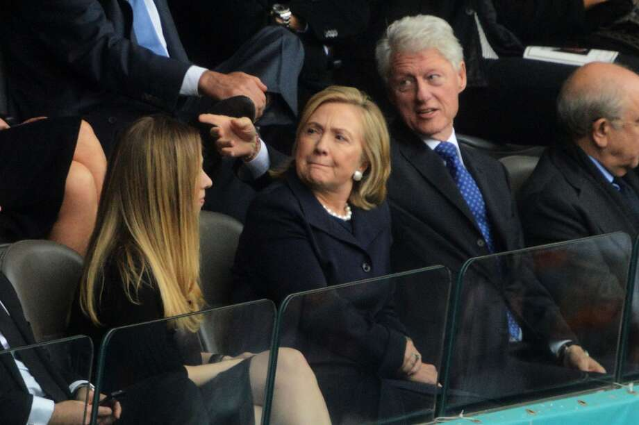 Hillary Clinton is perhaps the poster wife of wives who stand by their men during political sex scandals. She stood by former U.S. President Bill Clinton during the Monica Lewinsky scandal even after horrible details of his affair were released in the impeachment trial. Photo: ROBERTO SCHMIDT, AFP/Getty Images