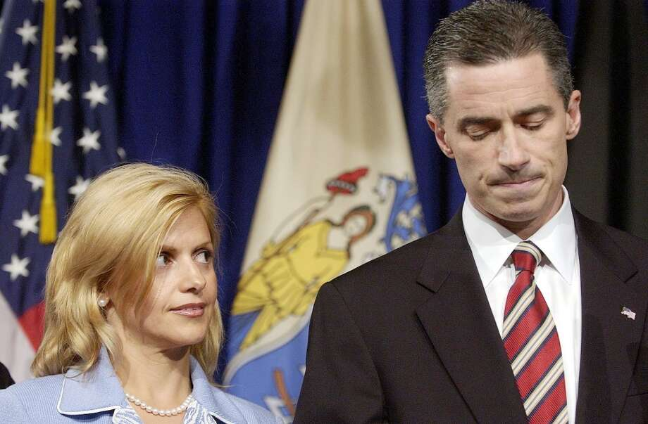 "Dina McGreevey stood by her husband, New Jersey Governor James McGreevey, just long enough for him to announce he's a ""gay American"" after news of his extramarital affair broke. They then divorced. Photo: MICHAEL PEREZ, KRT"