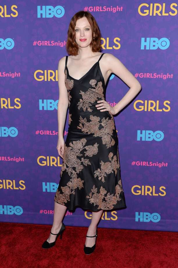 "Model Karen Elson attends the ""Girls"" season three premiere at Jazz at Lincoln Center on January 6, 2014 in New York City. Photo: Andrew H. Walker, Getty Images"