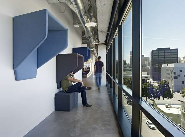 Tech leads the way in office design sfgate for Hip office design
