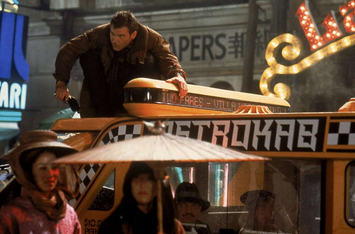 """Harrison Ford plays Deckard in Ridley Scott's 1982 noir thriller, """"Blade Runner: The Final Cut."""" The film is part of the lineup at Pier 70's new drive-in movie series in partnership with local independent movie theaters as well as nonprofit organization La Cocina."""