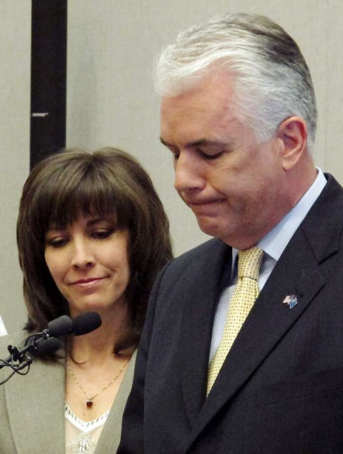 Sen. John Ensign was one of Bill Clinton's most outspoken critics during the Monica Lewinsky scandal, calling for his impeachment. In 2011 he resigned after an extramarital affair scandal of his own. He and his wife Darlene are still married to each other. Photo: Oskar Garcia, AP