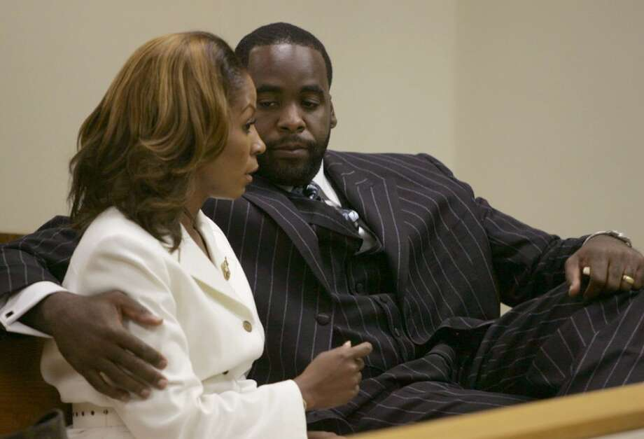 Detroit Mayor Kwame Kilpatrick has been convicted on multiple charges related to accusations of corruption. Strippers and extramarital affairs are just a few of the scandals that have dogged him. His wife Carlita has stood by him through all of it. He is currently in prison. She lives in Texas now. Photo: MANDI WRIGHT, AP