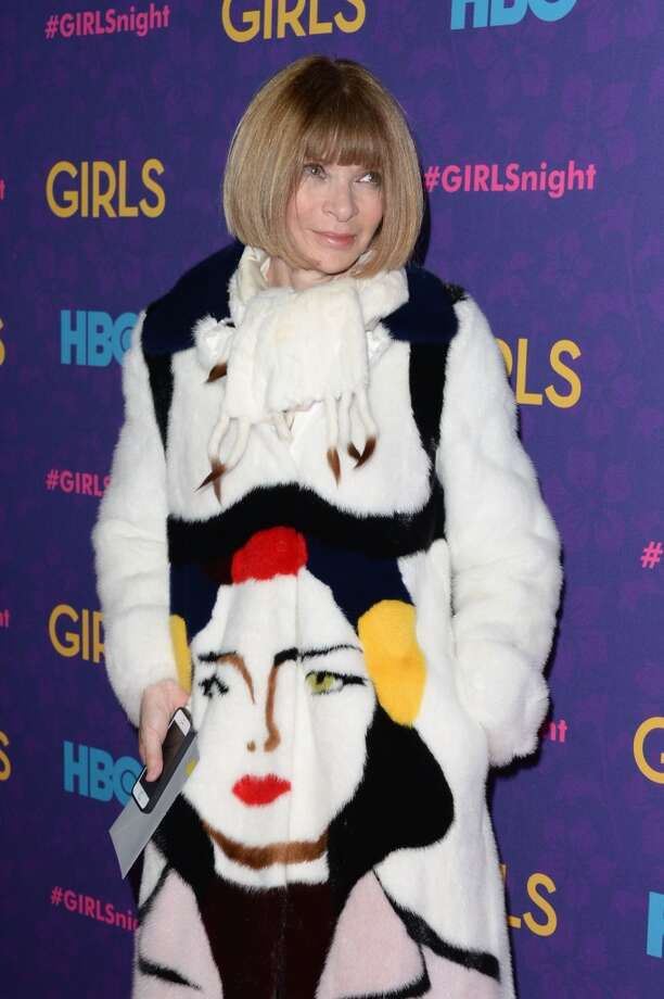 "Editor-in-chief of American Vogue Anna Wintour attends the ""Girls"" season three premiere at Jazz at Lincoln Center on January 6, 2014 in New York City. Photo: Andrew H. Walker, Getty Images"
