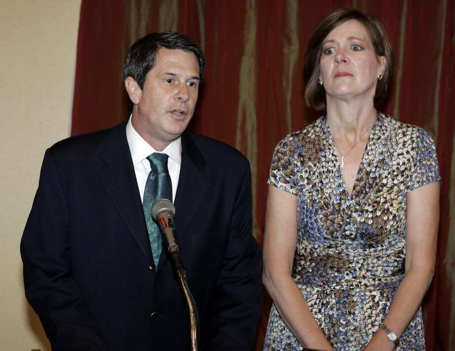 Senator David Vitter's wife Wendy stayed with him even after revelations he had solicited prostitutes. It hasn't seemed to hurt his political career much. Photo: Alex Brandon, AP
