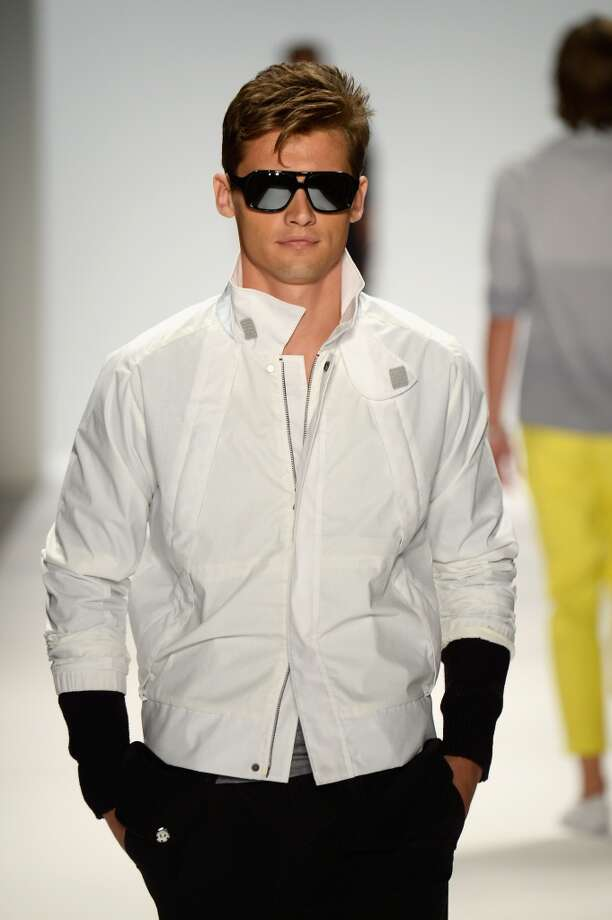 Resolution: Get in shape to wear new athletic style pieces. Jock and gym detailing from wetsuit cuts and zippers to mesh and luxe takes on track suiting are back in a big way.  Hit the gym so you can show off the looks (like pieces from Nautica's men's Spring 2014 collection) to their best advantage. Photo: Frazer Harrison