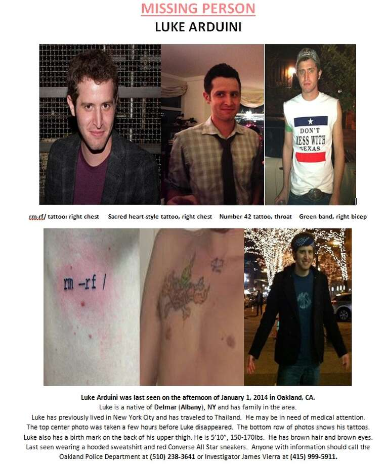 Posters show photos of missing Delmar native Luke Arduini. (Provided)