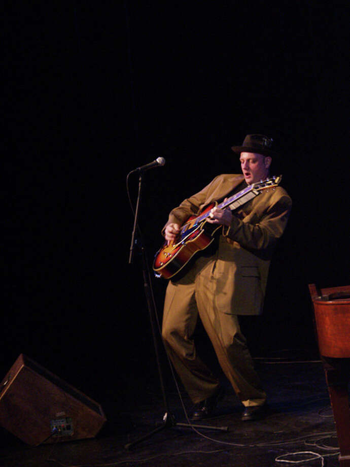 Petey Hop, shown here, and the Connecticut Blues Society Revue make for a great night of blues and roots on Thursday, Jan. 16, at The Ridgefield Playhouse. Photo: Contributed Photo / The News-Times Contributed