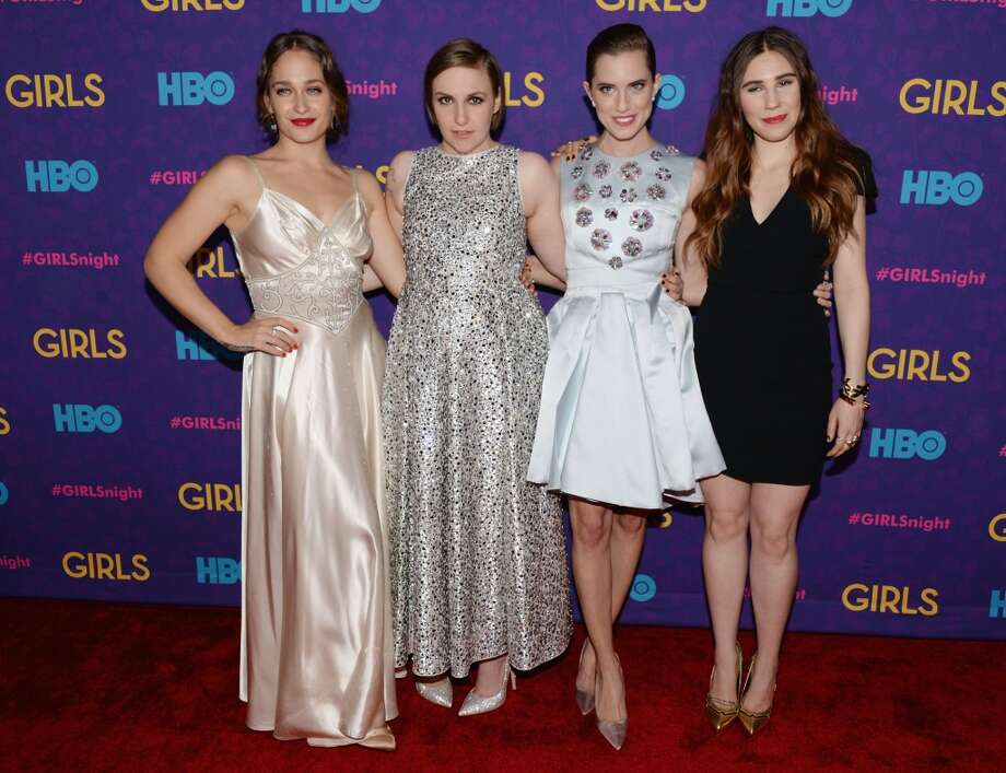 "(L-R) Actors Jemima Kirke, Lena Dunham, Allison Williams and Zosia Mamet attend the ""Girls"" season three premiere at Jazz at Lincoln Center on January 6, 2014 in New York City. Photo: Andrew H. Walker, Getty Images"