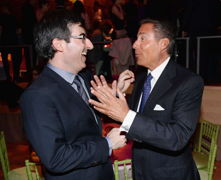 "(L-R) Comedian John Oliver and HBO CEO Richard Plepler attend the ""Girls"" Season Three premier after party at Jazz at Lincoln Center on January 6, 2014 in New York City. Photo: Andrew H. Walker, Getty Images"