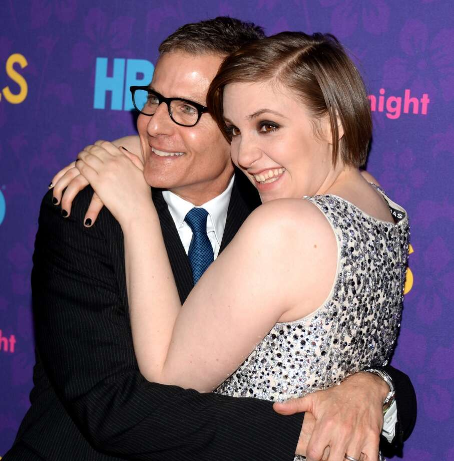 "(L-R) HBO President of Programming Michael Lombardo and Executive Producer Lena Dunham attend the ""Girls"" season three premiere at Jazz at Lincoln Center on January 6, 2014 in New York City. Photo: Andrew H. Walker, Getty Images"