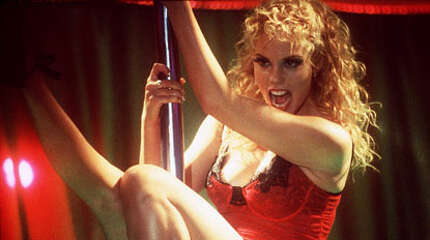 SHOWGIRLS -- a very good suggestion for its very BAD sex scenes, especially the hysterically funny one in the swimming pool.
