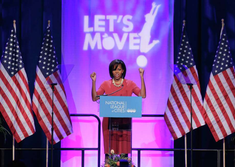 First lady Michelle Obama's Let's Move! initiative pushed schools to provide more healthful meals and snacks. Photo: STF / AP