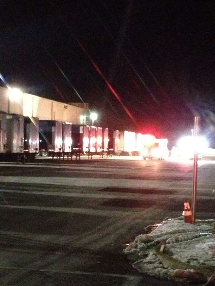 Scene of a fire at the Serta mattress factory in Coxsackie. (Bryan Fitzgerald/Times Union)