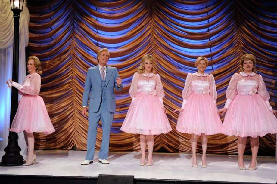 "Kristen Wiig as Dooneese, Will Ferrell as Ted Netters, Abby Elliott as sister, Michaela Watkins, Casey Wilson as Nora during the ""Lawrence Welk Show"" skit on May 16, 2009 Photo: NBC, NBC Via Getty Images / 2012 NBCUniversal, Inc."
