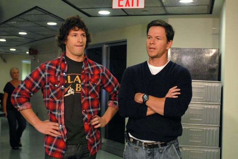 Andy Samberg, Mark Walhberg during the 'Wahlberg's Confrontation' skit on October 18, 2008 Photo: NBC, NBC Via Getty Images / 2012 NBCUniversal, Inc.