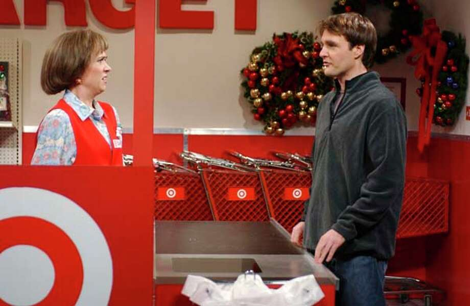 "Kristen Wiig as Target cashier and Will Forte as customer during ""Target"" skit on December 16, 2006 Photo: NBC, NBC Via Getty Images / 2012 NBCUniversal, Inc."