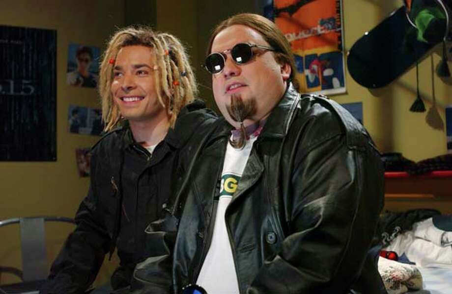 "Jimmy Fallon as Jarret and Horatio Sanz as Gobi during ""Jarret's Room"" skit on May 3, 2003 Photo: NBC, NBC Via Getty Images / 2012 NBCUniversal, Inc."