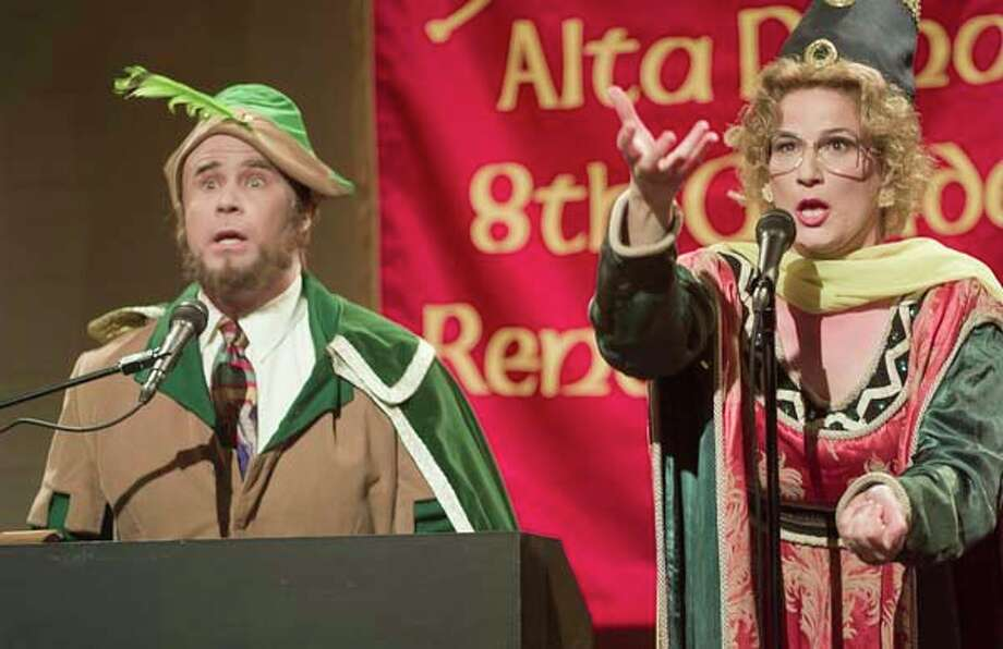 "Will Ferrell as Marty Culp, Ana Gasteyer as Bobbi Mohan-Culp during ""Renaissance Fair"" skit on May 20, 2000 Photo: NBC, NBCU Photo Bank Via Getty Images / 2012 NBCUniversal Media, LLC."