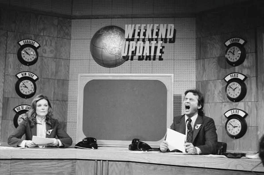 Jane Curtin and Bill Murray during 'Weekend Update' on November 18, 1978 Photo: NBC, NBC Via Getty Images / 2012 NBCUniversal, Inc.