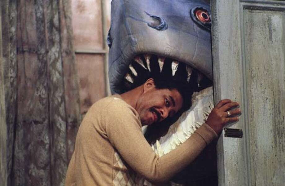 Richard Pryor and Land Shark in the 'Land Shark' skit on December 13, 1975 Photo: NBC, NBC Via Getty Images / © NBC Universal, Inc.