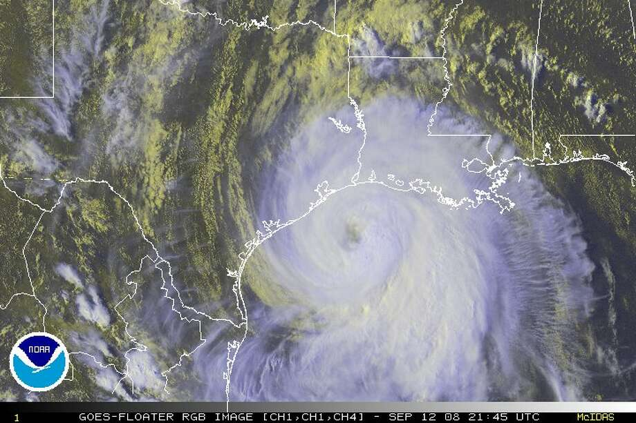 This image, taken Friday, Sept. 12, 2008, shows Hurricane Ike in the Gulf of Mexico closing in on the Texas coast. Ike caused an estimated $25 billion in damage to the Houston area, making it the costliest storm in Texas history. Photo: HO / NOAA