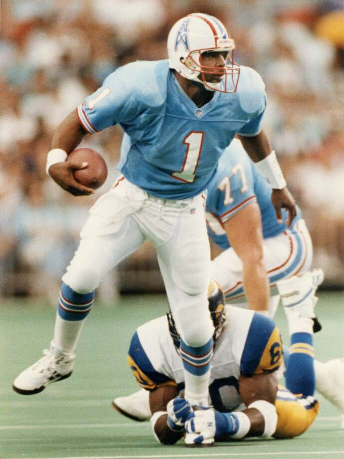 Warren MoonPosition: QuarterbackTime with the Oilers: 1984-93Year of HOF induction: 2006Was selected to nine Pro Bowls and had the most wins as an Oilers quarterback until Steve McNair broke his record after the franchise moved to Tennessee. Photo: John Makely, Houston Chronicle File Photo