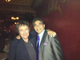 Promoter Jeff Trager with former Tower of Power lead vocalist Rick Stevens